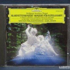 CDs de Música: MOZART - KLARINETTENKONZERT - KONZERT FÜR FLÖTE & HARFE - PRINZ/ZABALETA/BOHN - CD. Lote 207223450