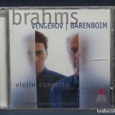 CDs de Música: BRAHMS - VENGEROV |BARENBOIM, CHICAGO SYMPHONY ORCHESTRA – VIOLIN CONCERTO / SONATA NO. 3 - CD. Lote 207223688