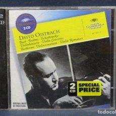 CDs de Música: DAVID OISTRACH - BACH· BRAHMS · TSCHAIKOWSKY · BEETHOVEN VIOLIN CONCERTOS / VIOLIN ROMANCES - CD. Lote 207224028