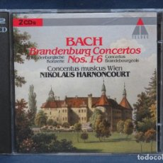 CDs de Música: JOHANN SEBASTIAN BACH,NIKOLAUS HARNONCOURT,CONCENTUS MUSICUS WIEN BRANDENBURG CONCERTOS Nº 1-6 -2CD. Lote 207224582