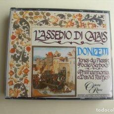 CDs de Música: DAVID PARRY L´ASSEDIO DI CALAIS 2 CDS + LIBRETTO. Lote 207227973