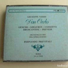 CDs de Música: FERNANDO PREVITALI DON CARLO 3 CDS + LIBRETTO. Lote 207228736