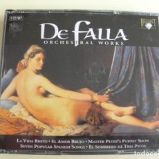 CDs de Música: EDUARDO MATA MANUEL DE FALLA 3 CDS. Lote 207233341