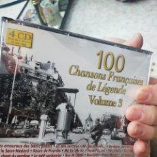 CDs de Música: 4 CD / 100 CHANSONS FRANÇAISES DE LÉGENDE VOLUME 3. Lote 207250716