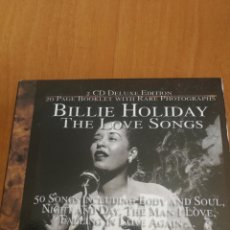 CDs de Música: CAJA 2 CD DELUXE EDITIONS BILLIE HOLIDAY THE LOVE SONGS 50 SONGS DEJA VU RETRO GOLD COLLECTION. Lote 207258628