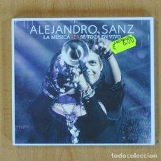 CDs de Música: ALEJANDRO SANZ - LA MUSICA SE TOCA EN VIVO - CD + DVD. Lote 207261843