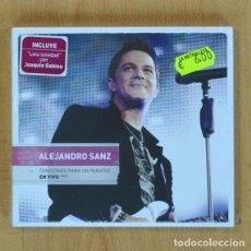 CDs de Música: ALEJANDRO SANZ - CANCIONES PARA UN PARAISO EN VIVO - CD + DVD. Lote 207261967