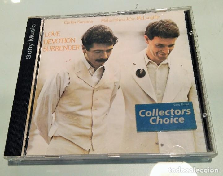 CARLOS SANTANA / MAHAVISHNU JOHN MCLAUGHLIN ----- LOVE DEVOTION SURRENDER (Música - CD's Jazz, Blues, Soul y Gospel)