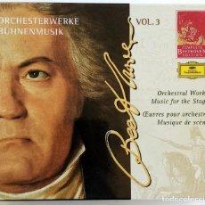 CDs de Música: EDICIÓN COMPLETA BEETHOVEN DEUTSCHE GRAMMOPHON VOL. 3 (OBRAS ORQUESTALES/MÚSICA INCIDENTAL).. Lote 207280291