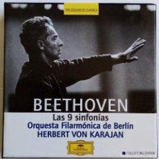CDs de Música: BEETHOVEN: INTEGRAL DE LAS SINFONÍAS. HERBERT VON KARAJAN.. Lote 207280913