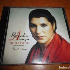 CDs de Música: REMEDIOS AMAYA & VICENTE AMIGO ME VOY CONTIGO CD ALBUM AÑO 1997 CONTIENE 9 TEMAS QUECO RARO. Lote 207330133