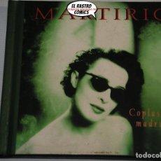 CDs de Música: MARTIRIO CON CHANO DOMÍNGUEZ TRÍO, COPLAS DE MADRUGÁ, CD DIGIBOOK. Lote 207335745