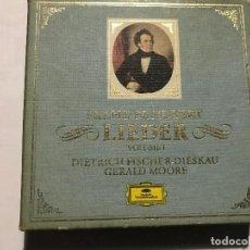 CDs de Música: FRANZ SCHUBERT - LIEDER / DIETRICH FISCHER DISKAU - GERALD MOORE CAJA CON 9 CDS CD CLASICA. Lote 207353341
