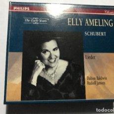CDs de Música: ELLY AMELING / DALTON BALDWIN / RUDOLF JANSEN - SCHUBERT LIEDER - CAJA 4 CDS CD CLASICA. Lote 207353378