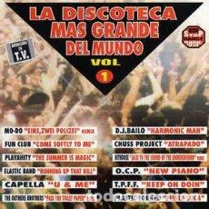 CD de Música: CD LA DISCOTECA MAS GRANDE DEL MUNDO VOL. 1 - METROPOL MRP1010CD (EX/EX) Ç. Lote 207436992