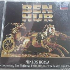CDs de Música: BEN HUR / MIKLÓS RÓZSA CONDUCTING THE NATIONAL PHILHARMONIC ORCHESTRA AND CHORUS / CD ORIGINAL. Lote 207458216