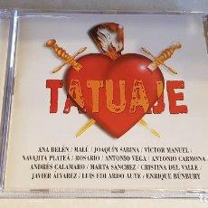 CDs de Música: TATUAJE / 12 TEMAS DE COPLA POR 12 ARTISTAS DE OTROS ESTILOS / CD - ARIOLA / DE LUJO.. Lote 207544142