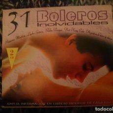 CDs de Música: 31 BOLEROS INOLVIDABLES RECOPILACIONES 31 BOLEROS ROMANTICOS EN 2 CDS. Lote 207571453