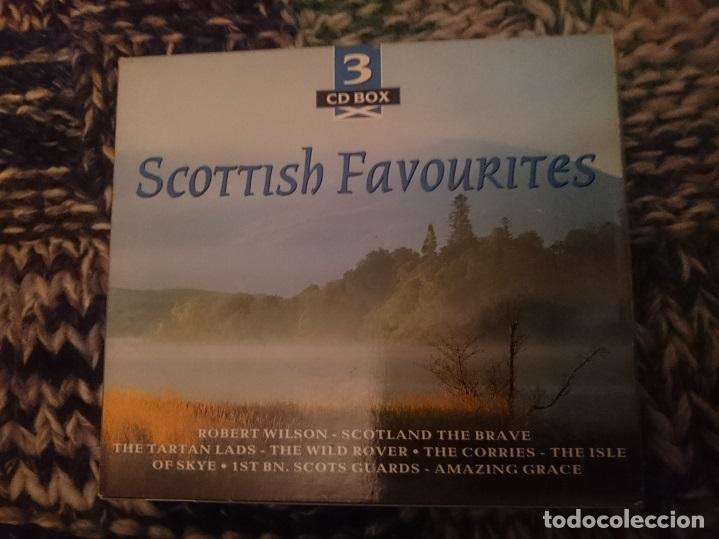 SCOTTISH FAVOURITES - CANCIONES TRADICIONALES ESCOCESAS EN 3 CDS (Música - CD's World Music)