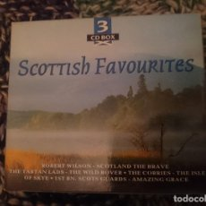 CDs de Música: SCOTTISH FAVOURITES - CANCIONES TRADICIONALES ESCOCESAS EN 3 CDS. Lote 207571462