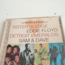 CDs de Música: G-4 CD MUSICA THE HEART SOUL OF SISTER SLEDGE EDDIE FLOYD DETROIT EMERALDS SAM DAVE. Lote 208166613