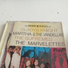 CDs de Música: G-4 CD MUSICA THE HEART SOUL OF GLADYS KNIGHT MARTHA THE VANDELLAS THE SUPREMES ETC. Lote 208170915