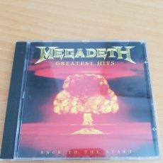 CDs de Música: CD MEGADETH. GREATEST HITS. BACK TO THE START. Lote 208224648