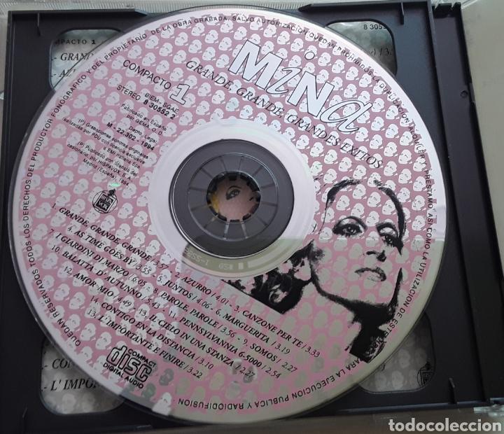 CDs de Música: Mina / Grande, grande, Grandes éxitos / 2 cd Original año 1994 - Foto 4 - 208236883