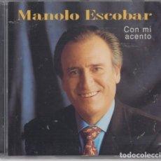 CDs de Música: MANOLO ESCOBAR - CON MI ACENTO - CD NUEVO PRECINTADO. Lote 208585486