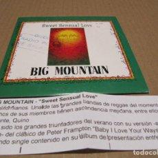 CDs de Música: BIG MOUNTAIN - SWEET SENSUAL LOVE (FOUR VERSIONS) (CD CARTON DE 1994)CADENA 100. Lote 208645567