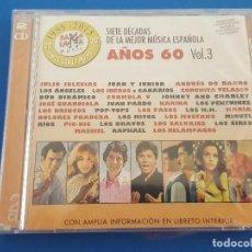 CDs de Música: CD DOBLE 2 CD'S / SIETE DÉCADAS DE LA MEJOR MÚSICA ESPAÑOLA VOL.3 AÑOS 60, NUEVO Y PRECINTADO. Lote 208756538