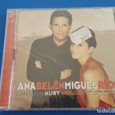 CDs de Música: CD DOBLE 2 CD'S / ANA BELEN Y MIGUEL RIOS CANTAN A KURT WEILL, NUEVO Y PRECINTADO. Lote 208760885