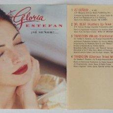 CDs de Música: GLORIA ESTEFAN !SÍ SEÑOR! TRADICION MIX DR. BEAT PROMOTIONAL ONLY. Lote 208787752