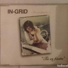 CDs de Música: CD SINGLE - IN-GRID ----- TU ES FOUTU. Lote 208796517