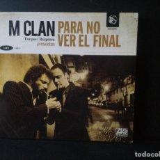 CD de Música: M CLAN, PARA NO VER EL FINAL, CD ROCK & SOUL, 2010, DIGIPACK PEPETO. Lote 208892753