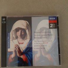 CDs de Música: CD MONTEVERDI VESPRO DELLA BEATA VERGINE 1610, THE MONTEVERDI CHOIR & ORCHESTRA JOHN ELLIOT GARDINER. Lote 208931315