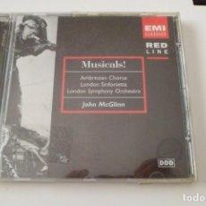CDs de Música: MUSICALS! AMBROSIAN CHORUS. LONDON SINFONIETTA. LONDON SYMPHONY ORCHESTRA. J. MCGLINN.EMI. Lote 209053763