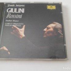 CDs de Música: ROSSINI. STABAT MATER. CARLO MARIA GIULINI. DEUTSCHE GRAMMOPHON. Lote 209054590