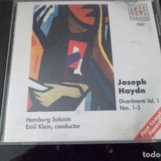 CDs de Música: JOSEPH HAYDN. DIVERTIMENTI VOL. 1 NS. 1-3. ARTE NOVA. Lote 209055070