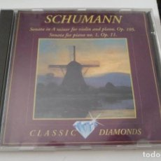 CDs de Música: SCHUMANN. SONATA IN A MINOR FOR VIOLIN AND PIANO OP. 105. SONATA FOR PIANO N.1 OP. 11. BRILLIANT. Lote 209106400