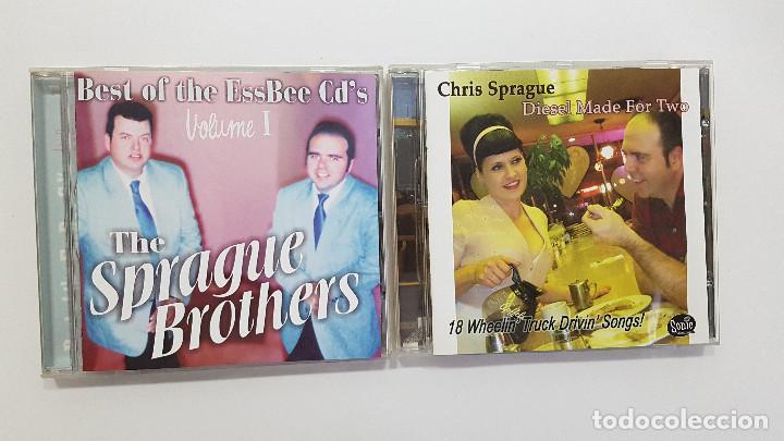 LOTE 2 CDS CHRIS SPRAGUE (DIESEL MADE FOR TWO) + SPRAGUE BROTHERS - SURF MUSIC MADRID (Música - CD's Rock)