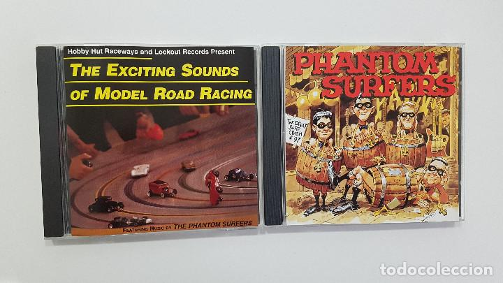 LOTE 2 CDS THE PHANTOM SURFERS: THE GREAT SURF CRASH OF '97 Y THE EXCITING - SURF MUSIC MADRID (Música - CD's Rock)