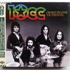 CDs de Música: 10CC. I'M NOT IN LOVE. THE ESSENTIAL. 3 CD'S SPECTRUM MUSIC SPECESS003. EU 2016. 10 CC.. Lote 209244090