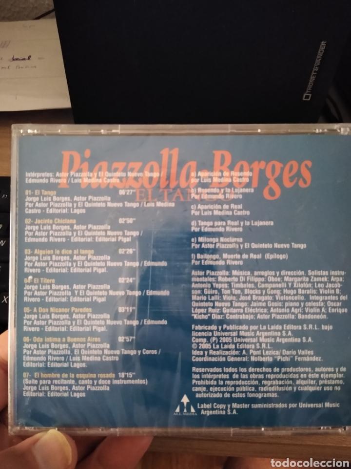 CDs de Música: Astor Piazzolla -Jorge Luis Borges cd importado El Tango canta Edmundo Rivero DESCATALOGADO - Foto 2 - 209343370
