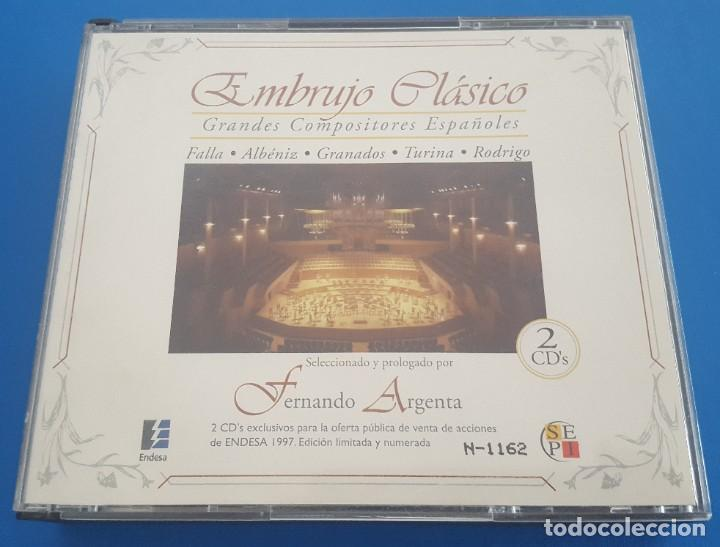 CD X2 DOS CD'S / EMBRUJO CLÁSICO - GRANDES COMPOSITORES ESPAÑOLES, PROMO ENDESA (Música - CD's Clásica, Ópera, Zarzuela y Marchas)