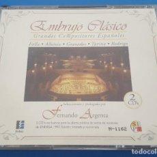 CDs de Música: CD X2 DOS CD'S / EMBRUJO CLÁSICO - GRANDES COMPOSITORES ESPAÑOLES, PROMO ENDESA. Lote 209350060