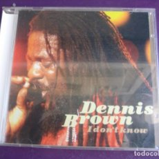 CDs de Música: DENNIS BROWN ‎– I DON'T KNOW CD GRAPEVINE RECORDS 1995 - ROOTS REGGAE - LEYENDA PIONERO. Lote 209610045