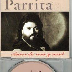 CDs de Música: PARRITA - AMOR DE ROSA Y MIEL (CDSINGLE CAJA PROMO, HORUS 1998). Lote 209696127