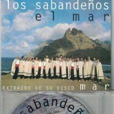 CDs de Música: LOS SABANDEÑOS - EL MAR (CDSINGLE CAJA, DISCOS MANZANA 1996). Lote 209700750