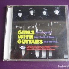 CD de Música: GIRLS WITH GUITARS CD ACE 2004 - GARAGE BEAT POP ROCK 60'S - 24 TEMAS GRUPOS DE CHICAS USA. Lote 209743188